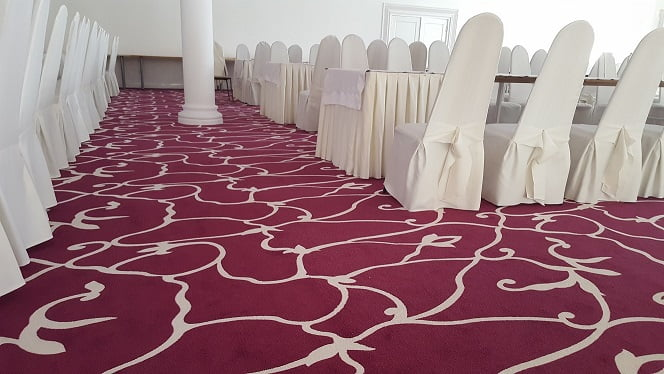 Wykładzina dywanowa w restauracji w Czarnym Lesie – wzór zaprojektowany dla klienta 2
